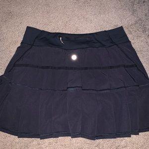 Black ruffle skirt from Lululemon